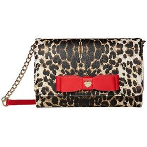 Betsey Johnson Leopard and Red Crossbody